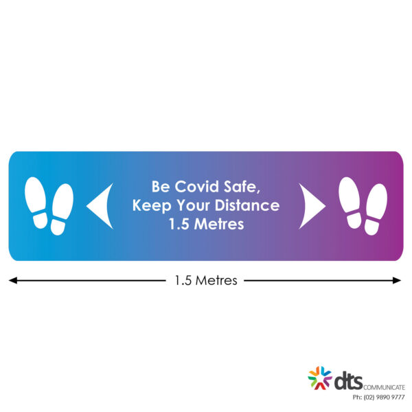 XLART DTS Covid19 Covid Floor Stickers Decals Social Distancing Sydney Melbourne Australia Be Safe Keep Your Distance Style 36