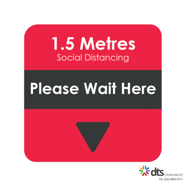 XLART DTS Covid19 Covid Floor Stickers Decals Social Distancing Sydney Melbourne Australia please wait here style 24
