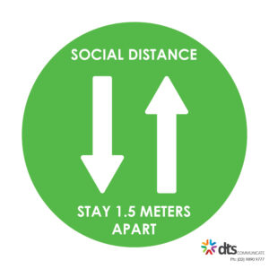 XLART DTS Covid19 Covid Floor Stickers Decals Social Distancing Sydney Melbourne Australia social distance stay apart style 16