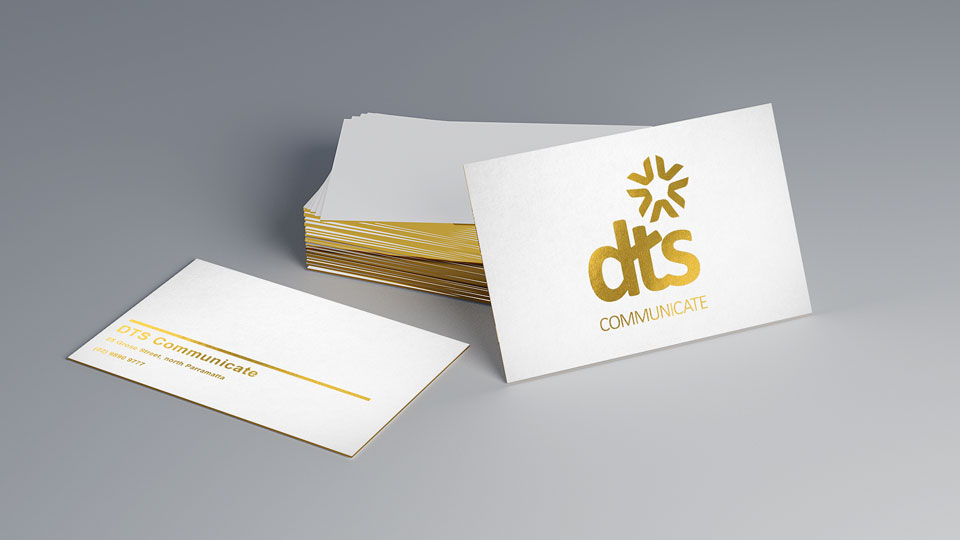 Metallic Gold Thumbnail DTS Digital Print Document Print Gold Print Sydney Australia Flysheet Business Cards